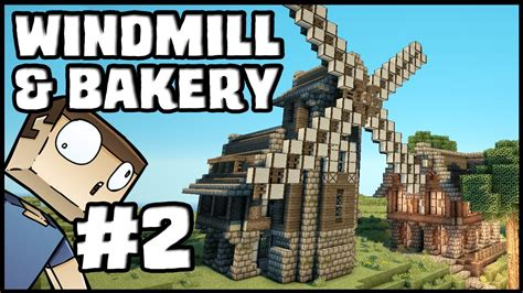 Basic House Plans Free minecraft lets build windmill amp bakery part 2 youtube