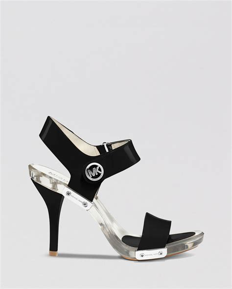 michael kors high heel sandals michael michael kors open toe lucite platform sandals