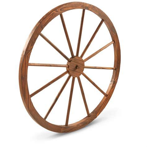 Decorative Wagon Wheels by Castlecreek 36 Quot Wooden Wagon Wheel 657785 Decorative Accessories At Sportsman S Guide