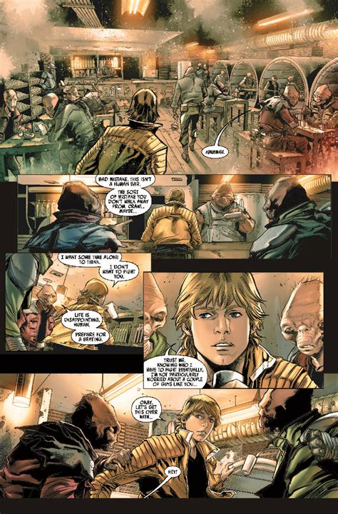 star wars the screaming 130290678x luke skywalker gets into another bar fight in star wars the screaming citadel 1