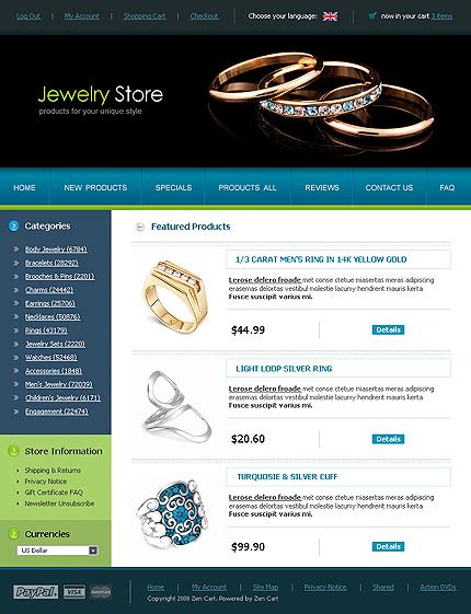 Template 15285 Jewelry Store Ecommerce Website Template Jewelry Store Website Template