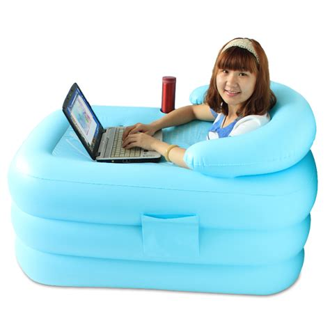 bathtub inflatable heat preservation thickening medium inflatable bathtub folding bathtub tub bath bucket