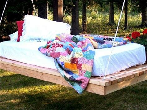 bed swing made from pallets easy diy pallet swing bed