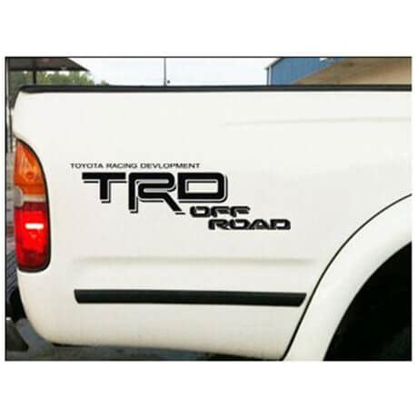 Toyota Road Decals Toyota Trd Road Bedside Vinyl Decal Stickers Set
