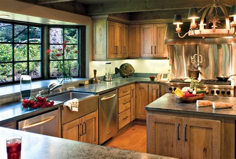 rustic kitchen cabinets with large capacities we bring ideas