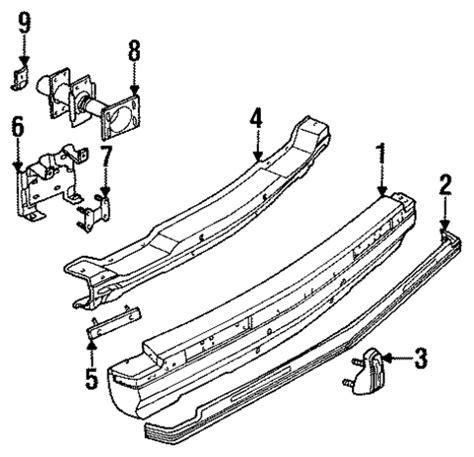 automotive service manuals 1996 cadillac fleetwood spare parts catalogs oem 1995 cadillac fleetwood bumper components rear parts gmpartsonline net