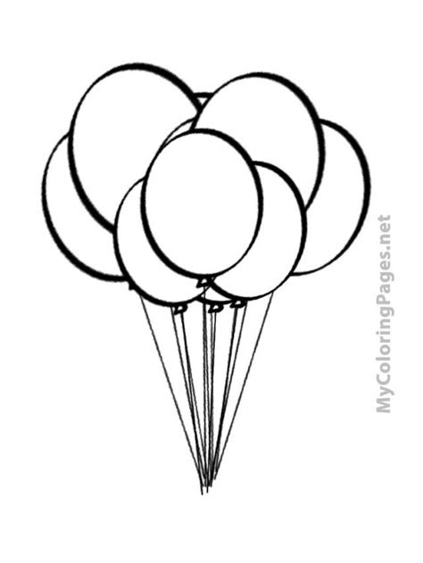 printable coloring pages balloons air balloon outline az coloring pages
