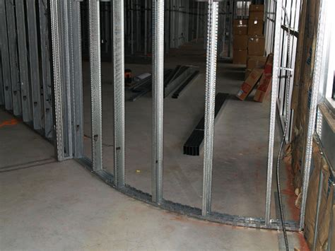 Metal Interior Walls by Metal Stud Construction In A New Construction