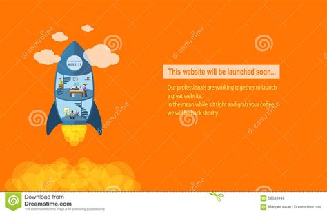 Launching Soon Template Free by Website Launching Soon Stock Vector Image 58533948