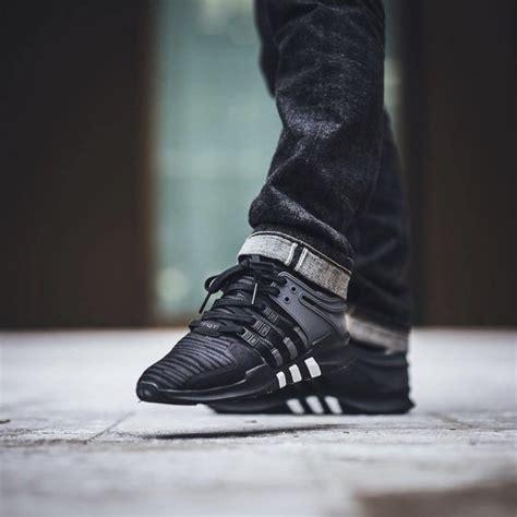 adidas originals black eqt support adv sneakers 187 petagadget