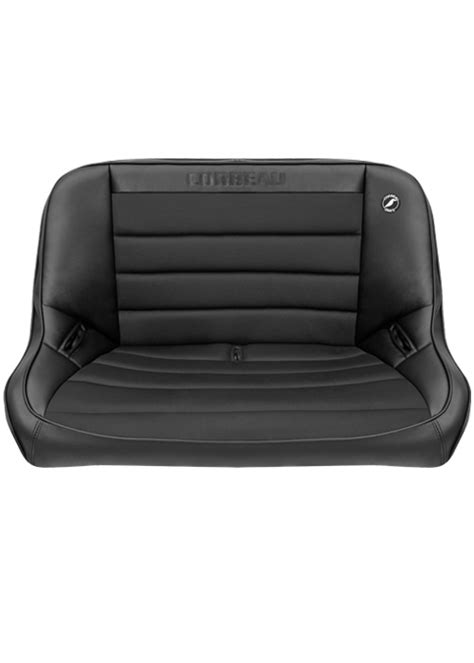 suspension bench seat corbeau baja 40 quot bench suspension seat black vinyl cloth