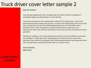 cover letter for driving truck driver cover letter
