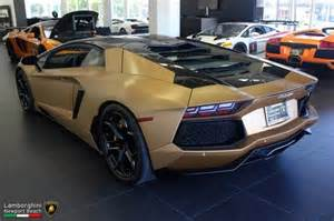 Gold Lamborghini For Sale Gold Brushed Lamborghini Aventador For Sale 2