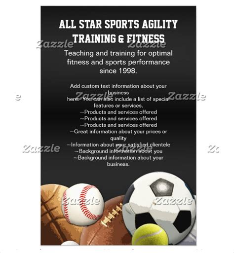 templates for sports flyers 22 sports flyer templates free psd ai eps vector