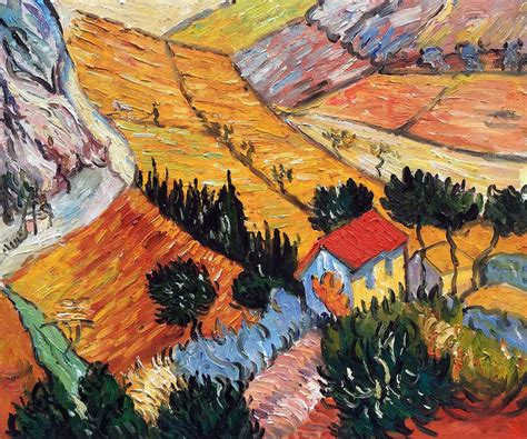 Landscape Paintings Gogh Gogh Quot Landscape With House And Ploughman 1889 Quot