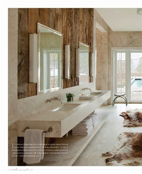 Rustic Chic Bathroom Frank Di Biasi Rustic Chic Modern Bath A Interior Design