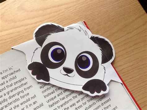printable panda bookmark panda corner bookmark panda bookmark panda page marker