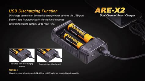 Battery 26650 X2 fenix are x2 dual channel smart charger usb 26650 18650