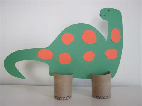 Dinosaur Paper Craft - dinosaurs on dinosaur crafts preschool