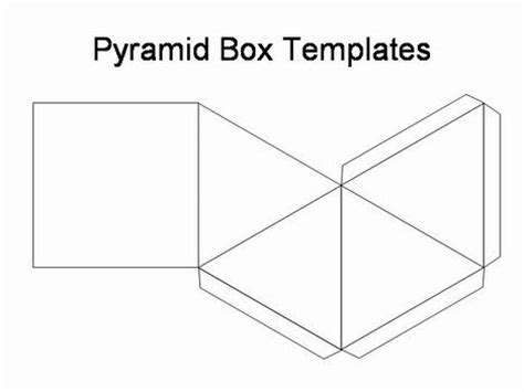 pyramid box template project presentation foldable