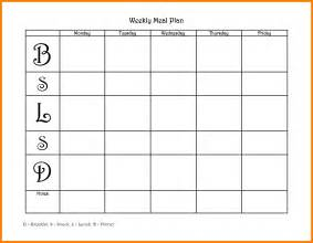 blank weekly menu template 5 blank weekly menu template science resume