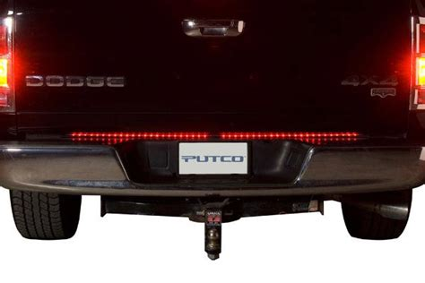 putco led tailgate light bar putco 90008 60ldew pure lighting tailgate 60 inch red and