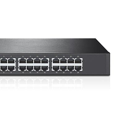Tp Link Tl Sf1024 24 Port Switch 24 10 100 1u 19 Rackmount tp link tl sf1024 24 port unmanaged 10 100 fast ethernet switch