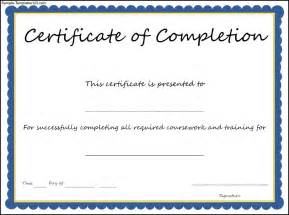 Template For Certificate Of Completion by Certificate Of Completion Template Sle Templates