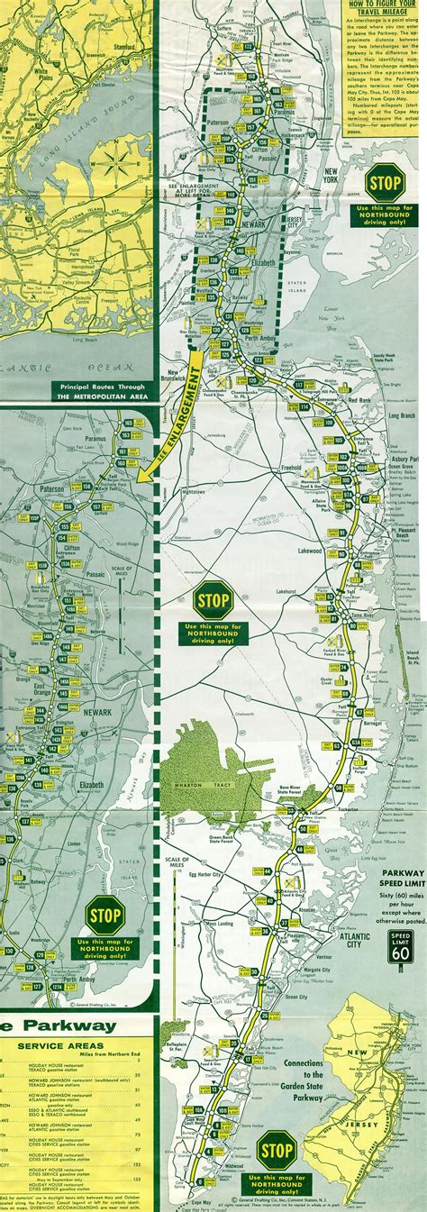 map of new jersey garden state parkway new jersey aaroads garden state parkway