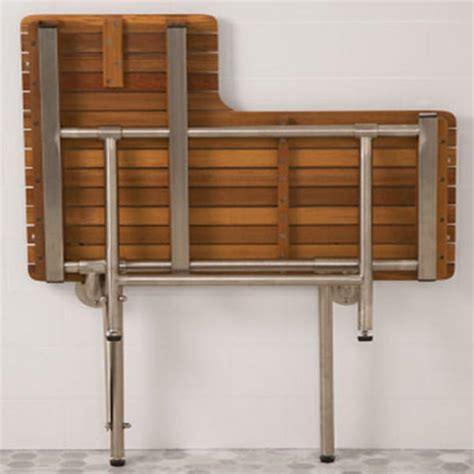 ada shower bench folding ada compliant foldup teak shower seats and benches