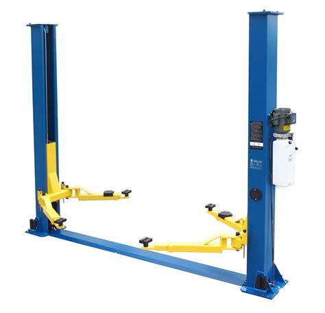 2 post car lift tp9kaf 9000 lb 2 post m a s h discount car lift