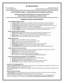 sle new resume usa resume sle 60 images sle resume for internship in