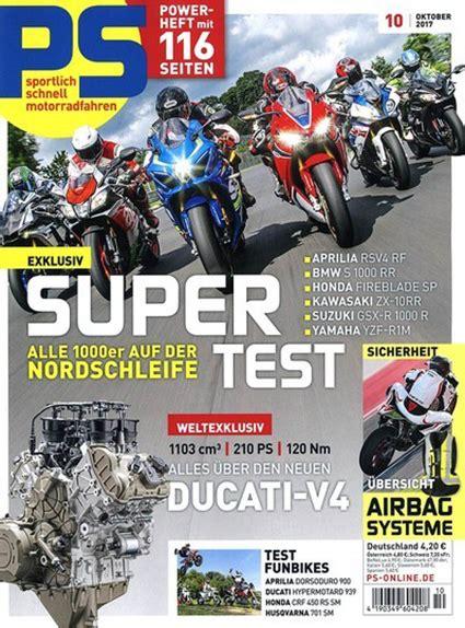 Ps Motorrad Zeitschrift Abo by Ps Motorrad Abo Ch