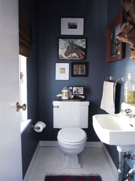 paint color portfolio dark blue bathrooms apartment therapy