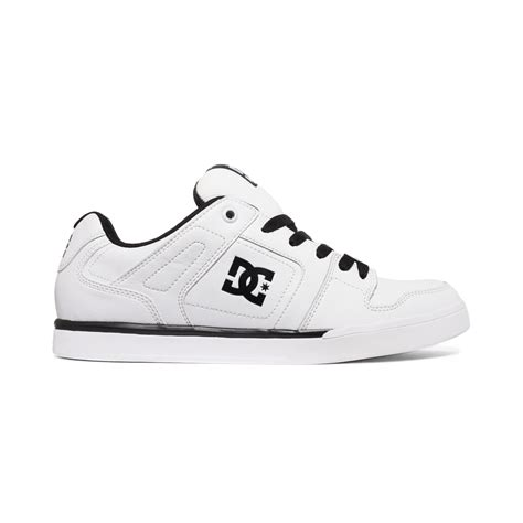 white dc sneakers dc shoes static sneakers in white for lyst