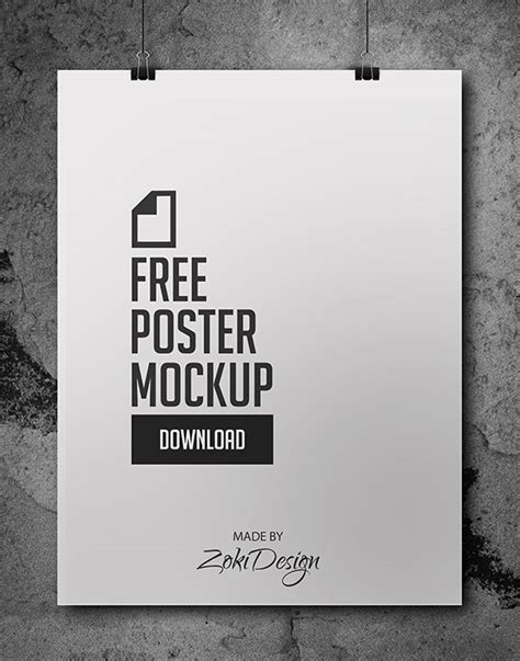 20 Free Psd Templates To Mockup Your Poster Designs 24x36 Poster Template Psd