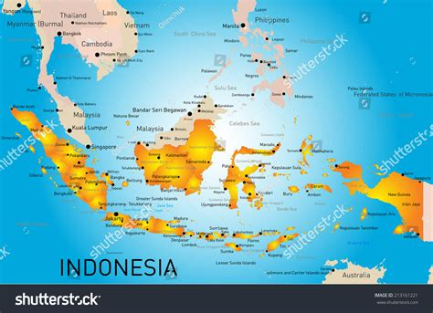 Colour Of Indonesia indonesia map to color