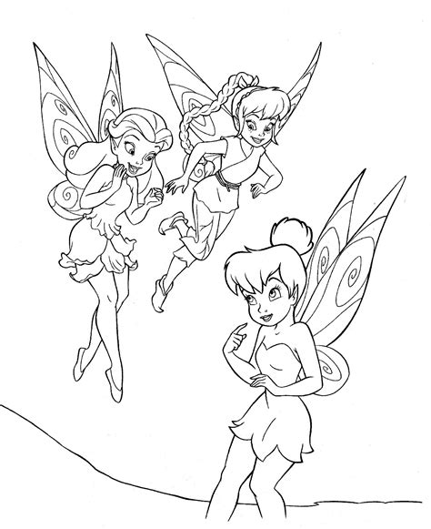coloring pages tinkerbell free tinkerbell colouring pages