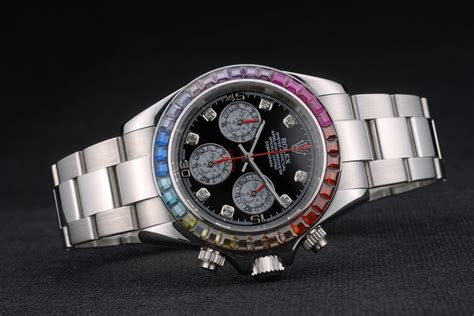 Rolex Daytona Silver Rainbow replica rolex daytona cosmograph rainbow silver 80250 replica breitling watches copy watches