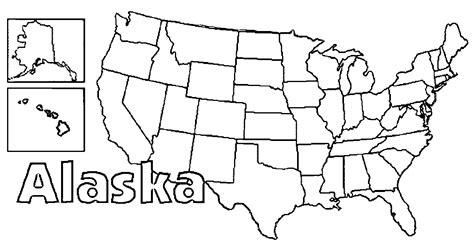 coloring page map of alaska state alaska coloring page wecoloringpage