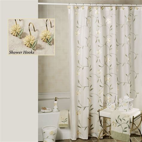 www shower curtains penelope shower curtain and hooks by croscill