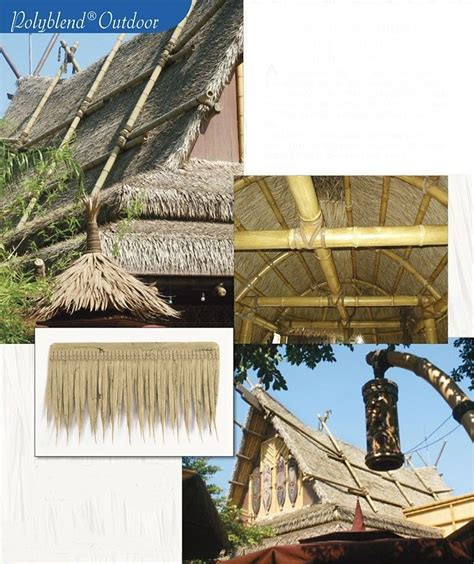 Tiki Bar Thatch For Sale Uv Proof Outdoor Artificial Thatch Shingle 19 Quot X11 Quot Tiki