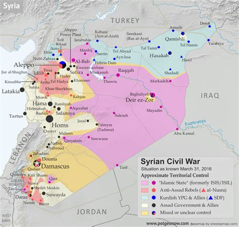 syrian war map syrian civil war map april 2016 political