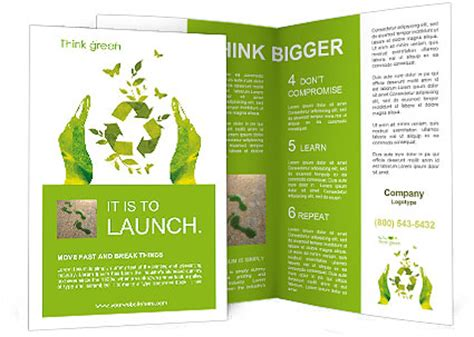 brochure template nature sign ecology save nature together brochure template