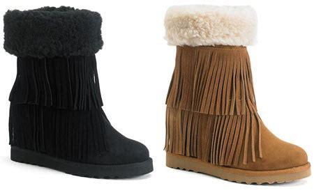 kohls fringe boots 12 59 reg 90 s fringe boots kohl s cardholders