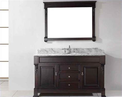 Rounded Bathroom Vanity Virtu Usa 60 Quot Sink Bathroom Vanity Huntshire Vu Gs 4060 Wmro Dw