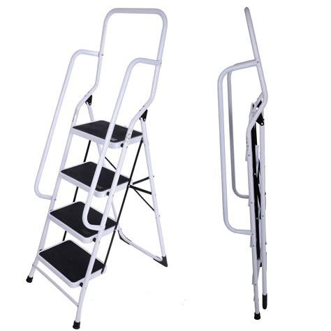 4 Platform Step Ladder With Safety Support Rails by Foldable Non Slip 2 3 4 Step Steel Ladder Tread Stepladder