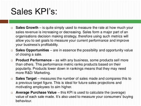 sales key performance indicators template key performance indicators you should