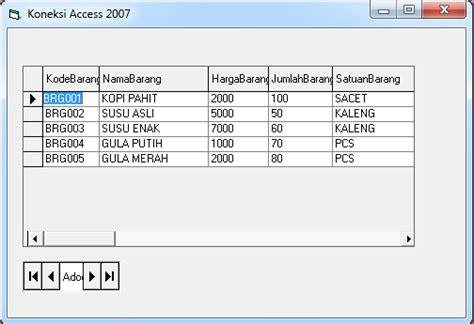 membuat database vb6 dengan access 2007 cara membuat koneksi visual basic dengan database access