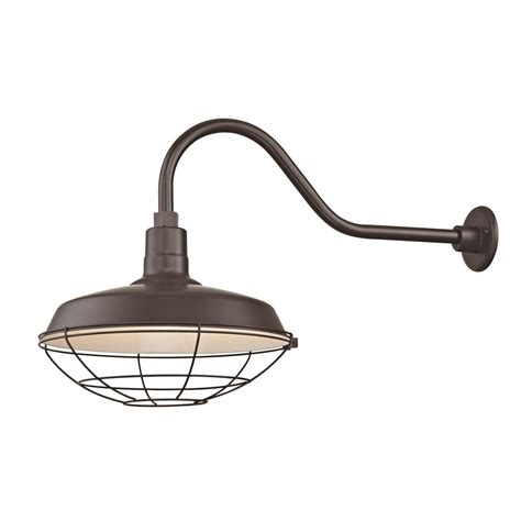 Outdoor Gooseneck Lights Bronze Outdoor Barn Wall Light With Gooseneck Arm And 16 Quot Cage Shade Bl Armq Bz Bl Sh16 Bz Bl